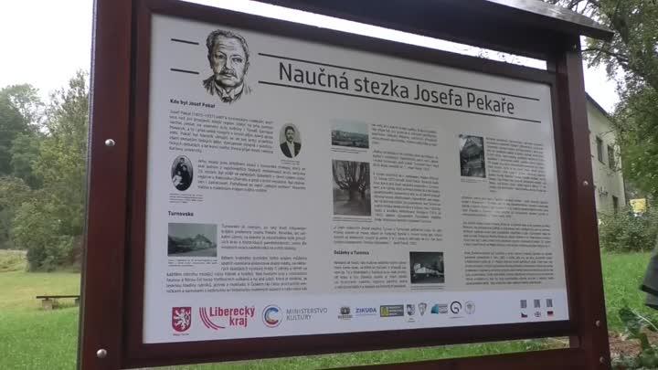 Turnov otevřel novou naučnou stezku historika Josefa Pekaře