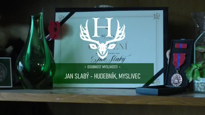 Medailonek Jana Slabého - hudebníka a myslivce