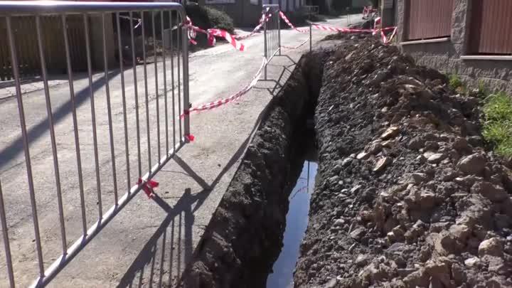 V děčínském Horním Oldřichově začala výstavba nové kanalizace