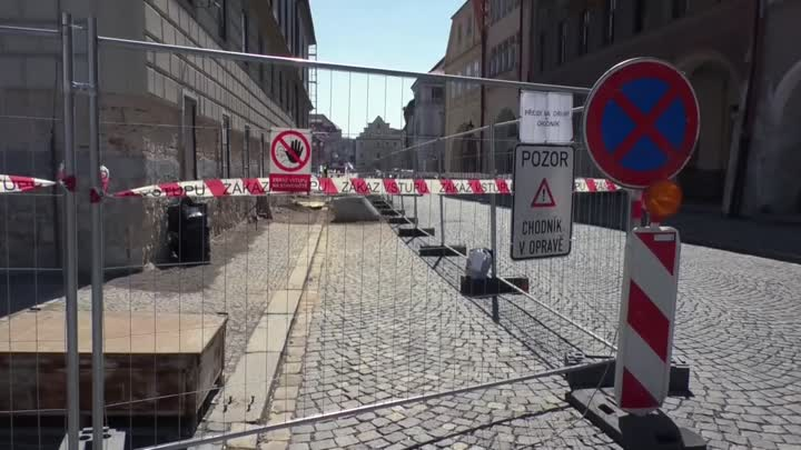 V Žatci komplikují dopravu rozsáhlé stavební práce