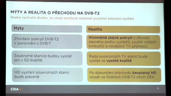 Přípravy na přechod na nový vysílací standard DVB-T2 vrcholí