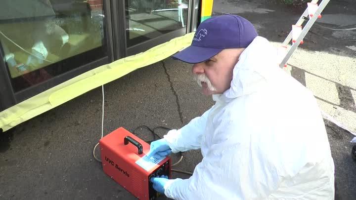 DPMLJ dezinfikuje své vozy proti virům ozonem