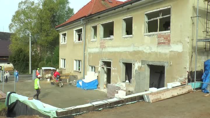Přestavba mateřské školy v Brništi je v plném proudu